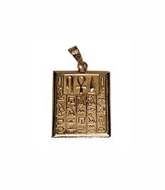 18K Egyptian Jewelry Pendants   Health, Life and Power