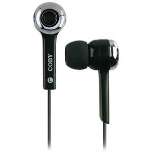 Coby CVE91BLK Isolation Stereo Earphones with Volume