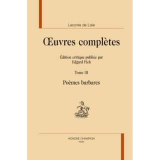 OEUVRES COMPLETES T.3 ; POEMES BARBARES   Achat / Vente livre Charles