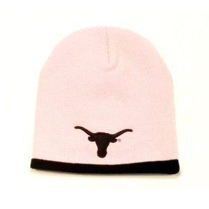Texas Longhorns Pink with Black Tip NCAA Knit Beanie