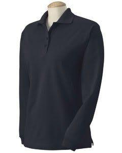 Harvard Square Womens 100% Heavy Pique Long Sleeve Polo