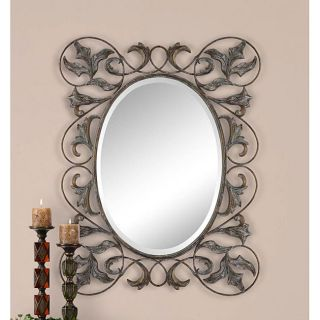 Cavaria Hand forged Square Oval Wall Mirror