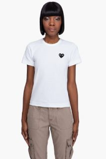 Comme Des Garçons Play  Cotton Jersey Patch T shirt for women