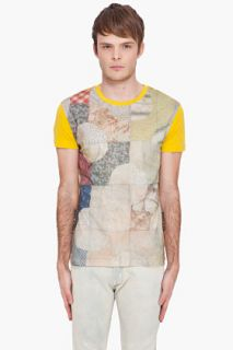 John Galliano Yellow Giallo Oro T shirt  for men