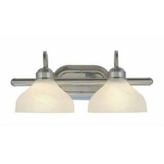 Classic Two light Brushed Nickel Bathroom Fixture