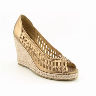 Candies Womens Kolbey Gold/Bronze Platform Wedges