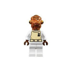 LEGO Star Wars LOOSE Mini Figure Admiral Akbar: Toys