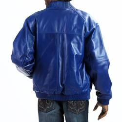 United Face Mens Premium Baseball Leather Bomber Jacket
