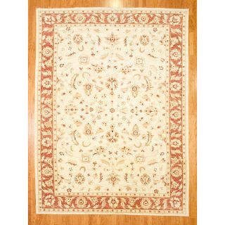 Afghan Hand knotted Vegetable dyed Wool Rug (99 x 134)