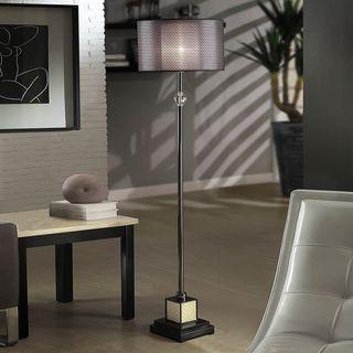 Lacey Black Chrome Floor Lamp