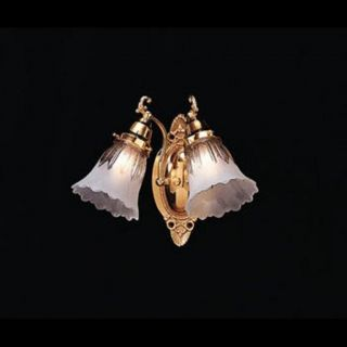 Polished Brass 2 light Wall Sconce