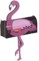 Pink Flamingo Novelty Mailbox (Black Mailbox) Home