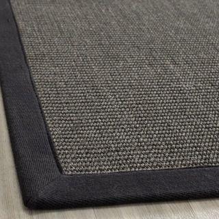 Hand woven Natural Fiber Serenity Charcoal Sisal Rug (9 x 12