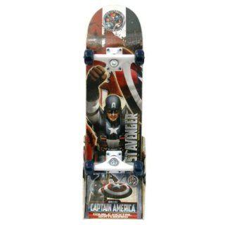 Marvel Captain America 28in Double Kicktail Skateboard