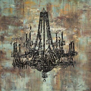 Art in Style Black Chandelier Hand Painted Canvas Wall Art Today $