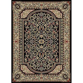 Black Floral Rug (311 x 53)