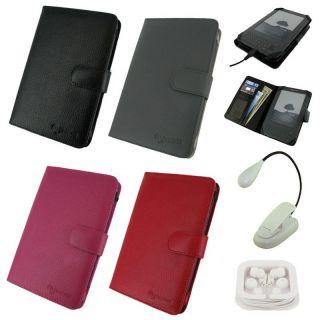 rooCASE 3 in 1 Kindle 3 Leather Folio Case Bundle
