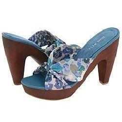 Nine West Vallis Blue Multi/Medium Blue Fabric Sandals