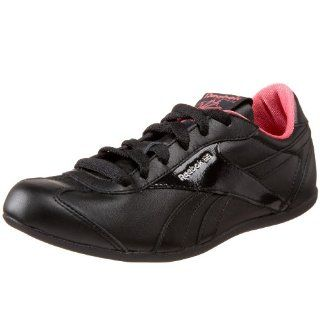 Reebok Womens Lucky Break Sneaker,Black/Super Pink,5 M Shoes