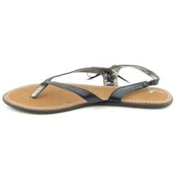 Sanuk Womens Kiss an Tell Black Sandals (Size 11)