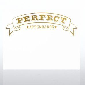 Foil Stamped Certificate Paper   Perfect Attendance Award