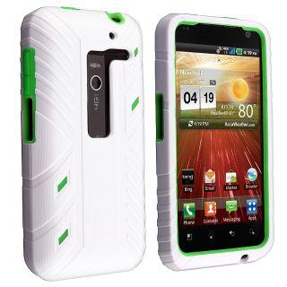 White/ Green Hybrid Case for LG Esteem MS910