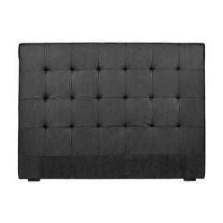 Tête de lit capitonnée 160 cm Cocoon noir   Achat / Vente TETE DE
