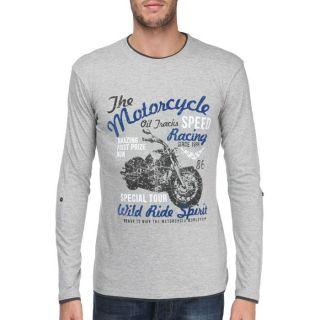 TRAXX T Shirt Homme Gris chiné et anthracite   Achat / Vente T