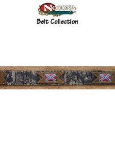 Belt Leather Outdoor Mossy Oak Rebel Flag N24555 222 Mens Clothing