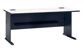 Bush White Nebula/ Slate Grey Workstation Desk