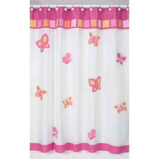 Pink and Orange Butterfly Kids Shower Curtain Today: $37.99