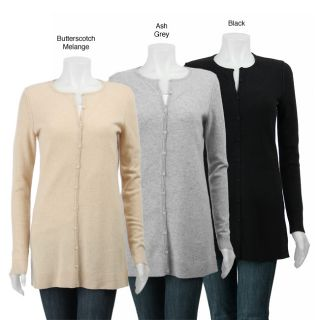 Magaschoni Cashmere Womens Button front Cardigan