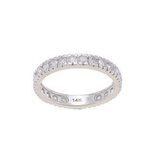 Beverly Hills Charm 14k White Gold 1 1/4ct TDW Diamond Eternity