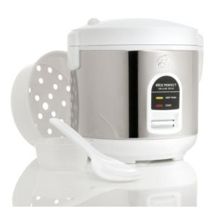 Wolfgang Puck BDRCRB005 White 5 cup Heavy duty Rice Cooker with