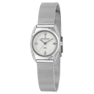 Skagen Womens Glitz Stainless Steel Quartz Watch