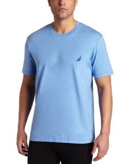 Nautica Mens Knit Short Sleeve Crew Neck Shirt, Blue
