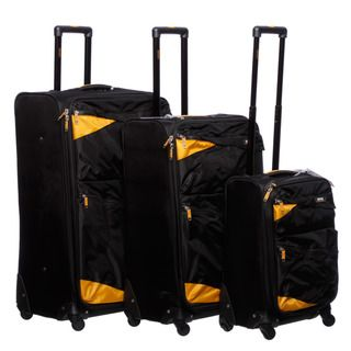 Lucas Pennant 3 piece Expandable Spinner Luggage Set