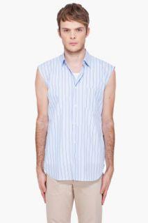 Comme Des Garçons Shirt Yarn Dyed Striped Vest for men