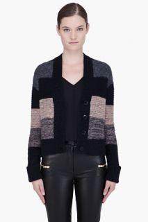 By Malene Birger Black Striped Alpaca Alfia Cardigan for women