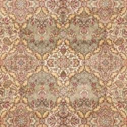Asian Hand knotted Royal Kerman Multicolor Wool Rug (10 x 14