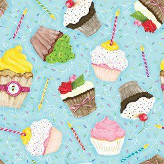 Jillson Roberts Eco Line Gift Wrap, Birthday Cupcake, 6