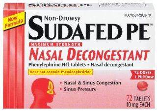 Sudafed PE Maximum Strength Nasal Decongestant, Non Drowsy