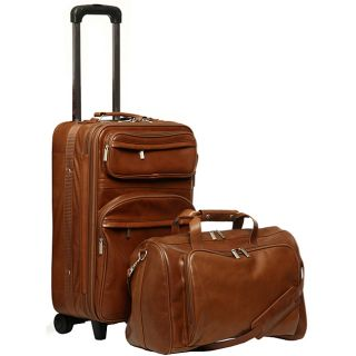 Amerileather Leather 2 piece Carry on Luggage Set