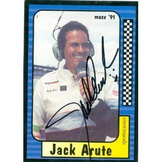 autographed Trading Card (Auto Racing) Maxx 1991 #221 Collectibles