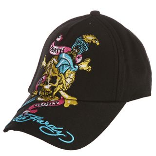 Ed Hardy Boys Skull and Eagle Embroidered Hat