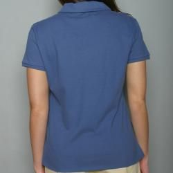 Golftini Womens Blue Zipper Neck Golf Shirt
