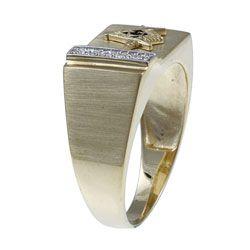10k Yellow Gold Mens Masonic Ring
