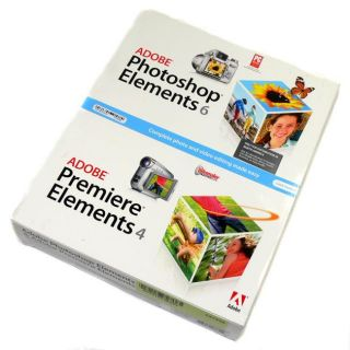 Adobe 29180387 PhotoShop Elements 6/ Premiere 4 Software for XP/ Vista