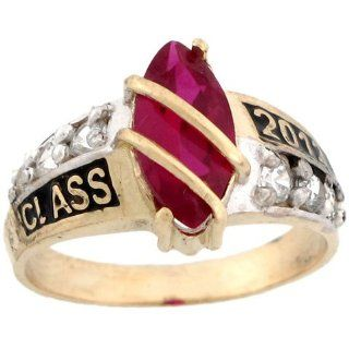 10k Solid Gold July Birthstone Class of 2012 Graduation Ring Jewelry