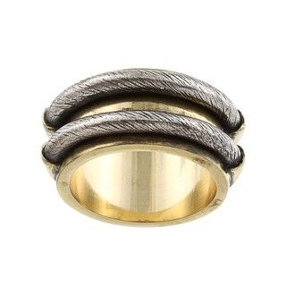 Silvermoon Brass and Sterling Silver Double Rope Design Ring
